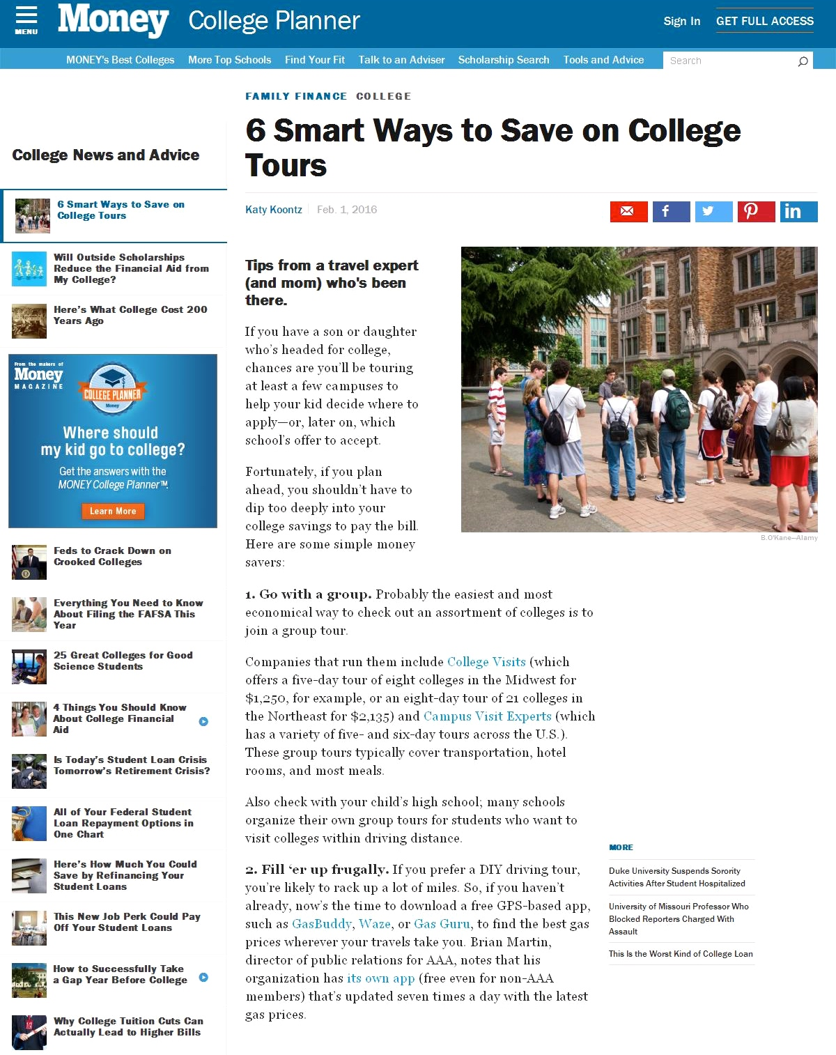 6 Smart Ways to Save on College Tours